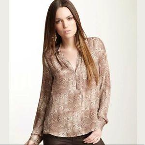 Haute Hippie snake print silk blouse